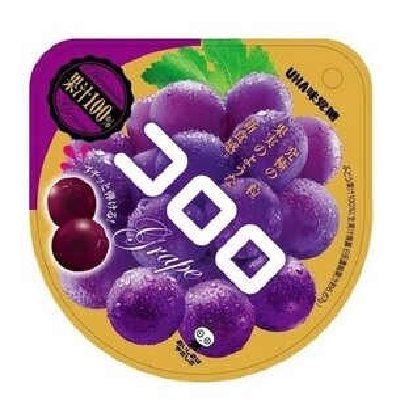 素晴館 日本 UHA 味覺糖 KORORO 新食感100%果汁軟糖 紫葡萄(40g)