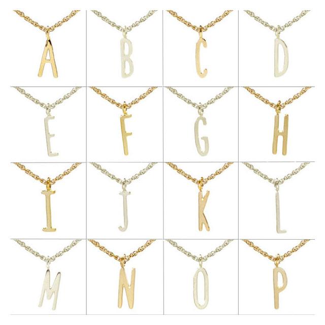 【海外訂購】【Kris Nations】金色細版字母手工項鍊(N-3Gd) 2