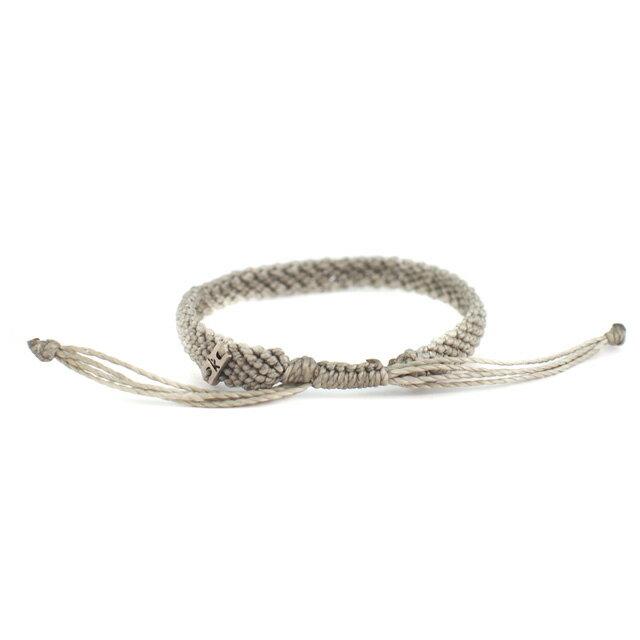 【現貨商品】【wakami】讚頌愛情灰色編織手環(WA0531-02  0678870000) 3