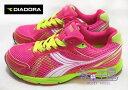 【巷子屋】義大利國寶鞋-DIADORA迪亞多納 女款四大機能螢光色超輕量運動跑鞋 [9102] 桃 超值價$498