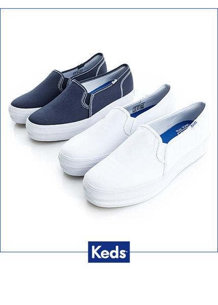 Keds 品牌經典厚底休閒便鞋(白) (限量) 套入式│懶人鞋│厚底鞋 3