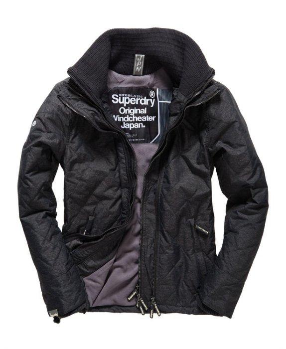 [男款] 英國代購 極度乾燥 Superdry Quilted Arctic Windcheater 男士 絎縫防風衣夾克 黑灰 0