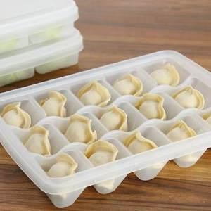 美麗大街【BF532E25E821】速凍餃子盒餃子保鮮收納盒不粘保鮮盒微波解凍盒