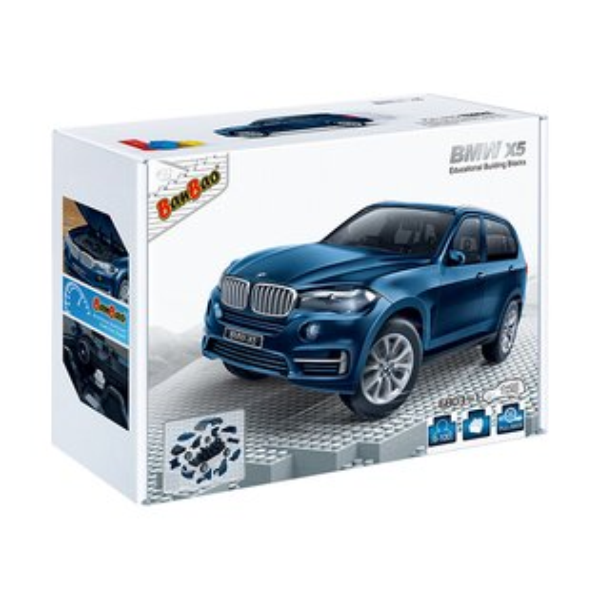 【BanBao 積木】寶馬系列-BMW x5藍 回力車 6803-1  (樂高通用) (滿2000元再送積木回力車一盒)