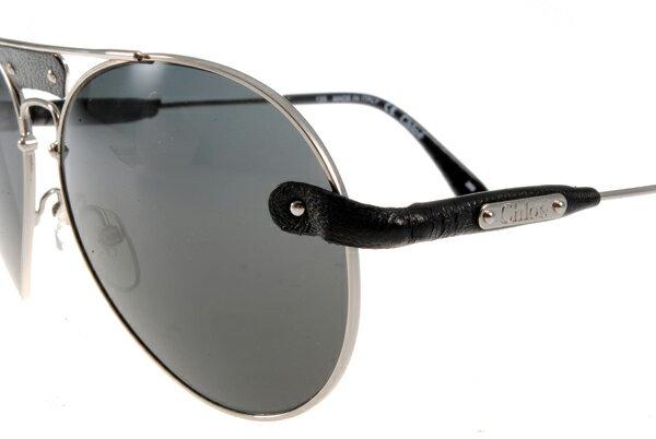 [Anson King]法國100%正品代購 CHLOE 克羅伊 好萊塢 時尚飛行復古皮革 CL2104系列 銀黑色 4