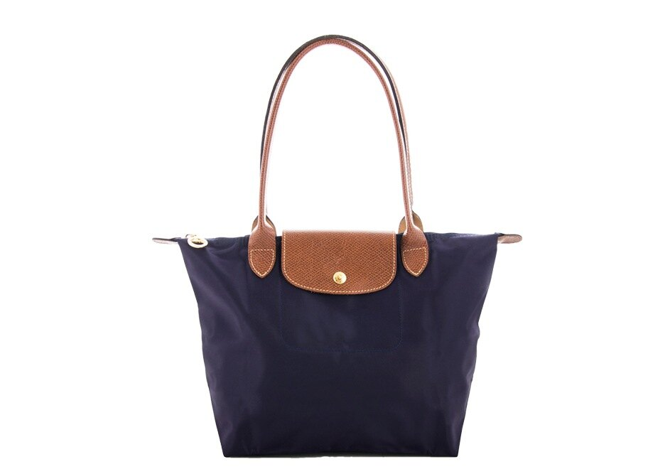[2605-S號]國外Outlet代購正品 法國巴黎 Longchamp  長柄 購物袋防水尼龍手提肩背水餃包 深紫色 0