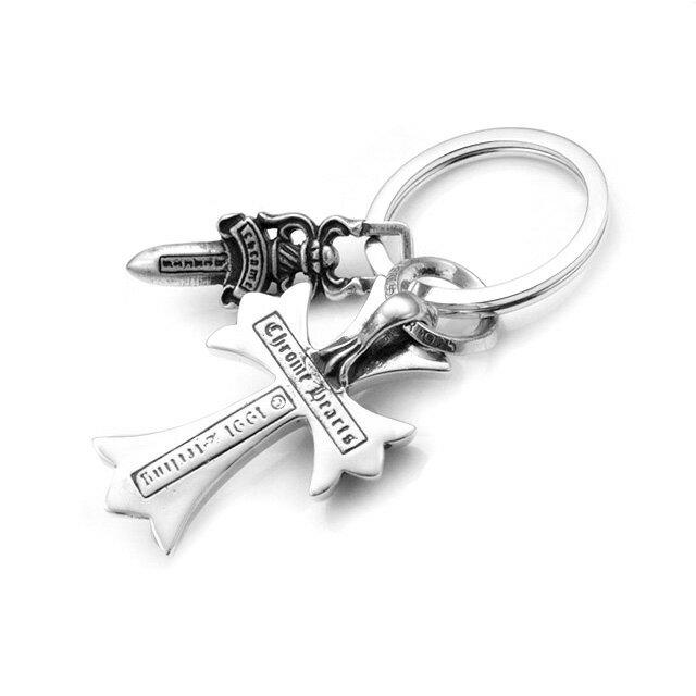 【海外訂購】【Chrome Hearts】CH十字短劍鑰匙圈 (CHK-009S  0781080000) 2