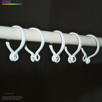 +伸縮桿專用掛鉤膠環【一個5元】適用各種窗簾掛鉤+