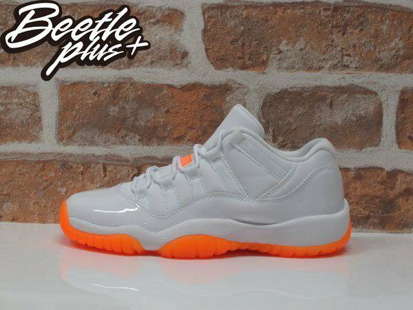 BEETLE PLUS NIKE AIR JORDAN 11 XI LOW GS CITRUS 柑橘 木瓜 白橘 亮皮 喬丹 女鞋 580521-139 0