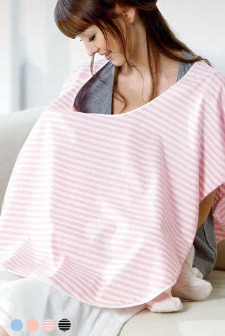 『121婦嬰用品』六甲村 舒適型授乳巾(粉白條紋) 0