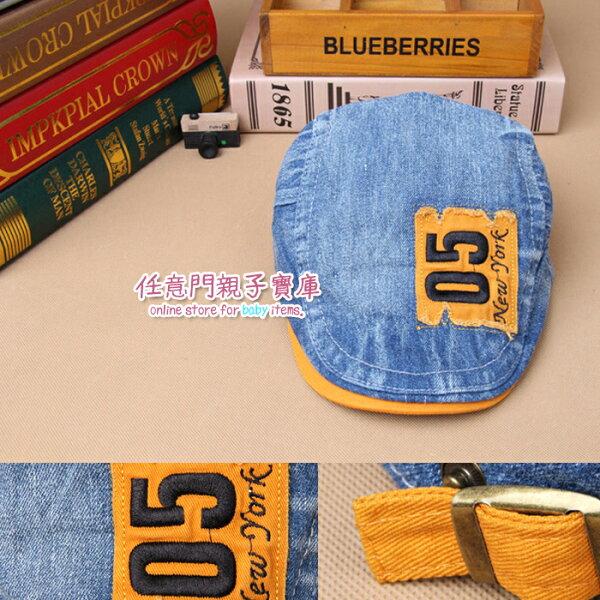 《任意門親子寶庫》男兒童貝雷帽子05標帥氣貝雷 牛仔料鴨舌帽 春秋冬季帽可調節【CA020】