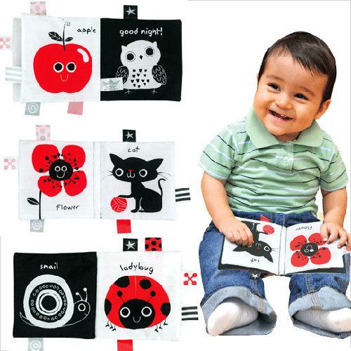 『121婦嬰用品館』k's kids 學習布書 - 黑白紅 0