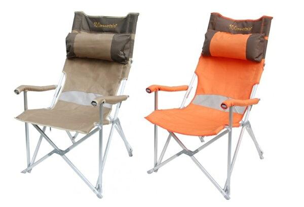【露營趣】中和 100mountain 大川椅 休閒椅 高背椅 沙灘椅 摺疊椅 附頭枕 UNRV 速可搭 MT-CH001K