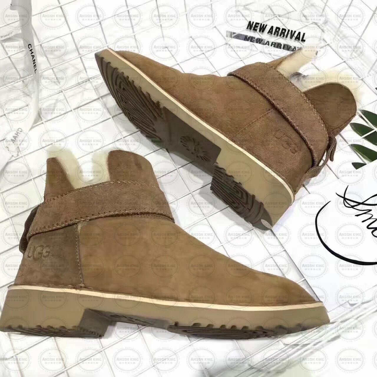 OUTLET正品代購 澳洲 UGG 羊皮毛一體馬汀靴 中長靴 保暖 真皮羊皮毛 雪靴 短靴 棕色 0