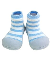 【本月特價$599】韓國【Attipas】快樂腳襪型學步鞋-花香藍 0
