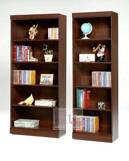 【尚品家具】GF-B05 羅密歐胡桃/白橡3尺開放式書櫃~另有2尺
