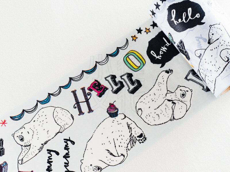 ~小徑文化~  Aimez le style 和紙膠帶 ~ 快樂北極熊 ^( JAN 56