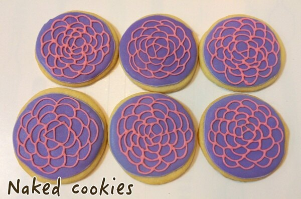 【裸餅乾Naked Cookies】花花世界6入-創意手工糖霜餅乾,婚禮/生日/活動/收涎/彌月