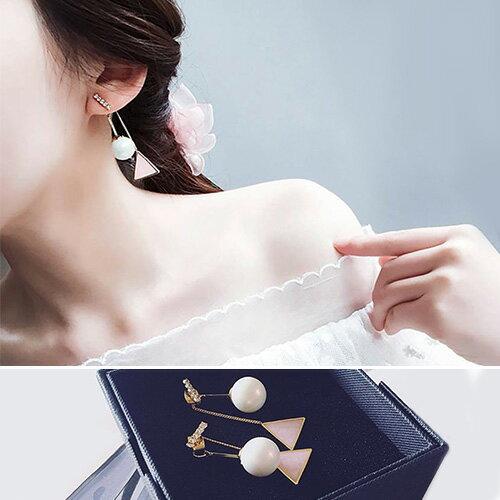 耳環 幾何造型後掛式氣質耳環【TSGE857】 BOBI  07/07 0