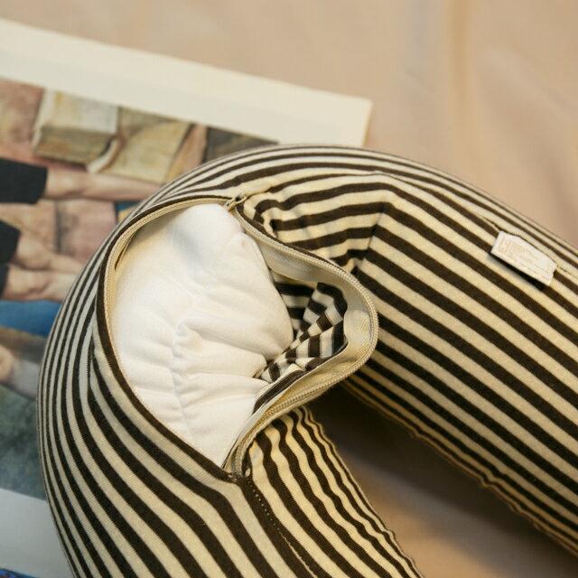 無印風格 線條頸枕(微粒) 紓壓/休息 便利實用 2色可選 1