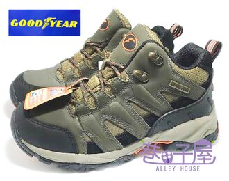 【巷子屋】GOODYEAR固特異 高峰悍將 男款抗水牛皮專業多功能戶外登山鞋 [30035] 棕綠 超值價$690