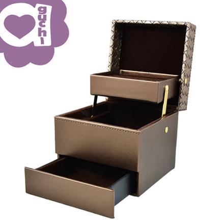 【Aguchi 亞古奇】編織小皇家-耀眼棕 珠寶盒(編織精靈系列) 1