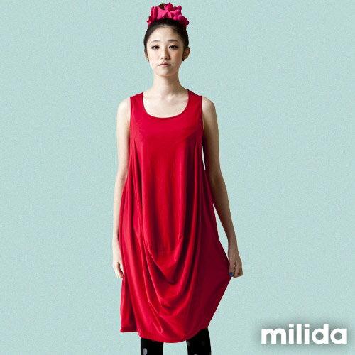 【milida】☆早春商品☆無袖款☆造型澎裙洋裝
