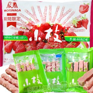 日本森永 小枝巧克力餅乾棒(草莓味) [JP450]