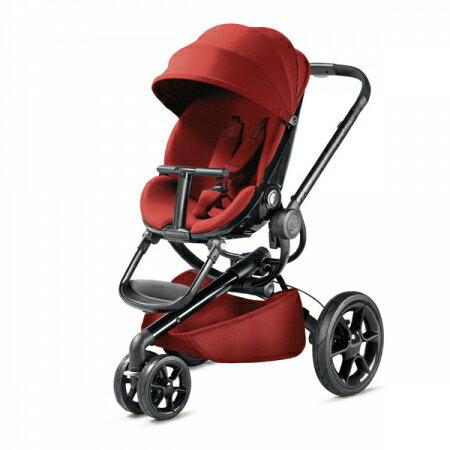 【贈Maxi Cosi Cabrofix提籃(隨機)】荷蘭【Quinny】Moodd-2015 嬰兒推車(黑管紅)