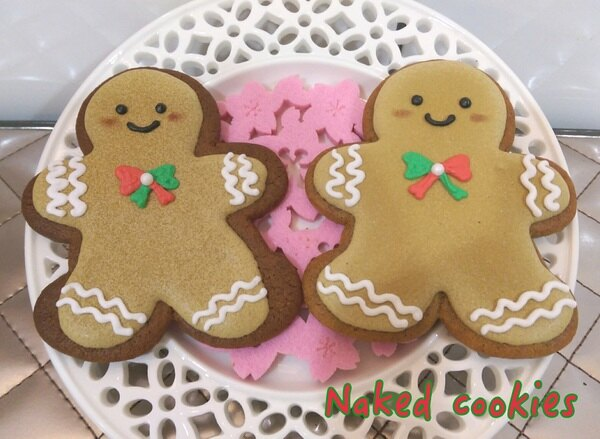 【裸餅乾Naked Cookies】薑餅人(基本款)6入-創意手工糖霜餅乾,婚禮小物/生日/活動/收涎/彌月
