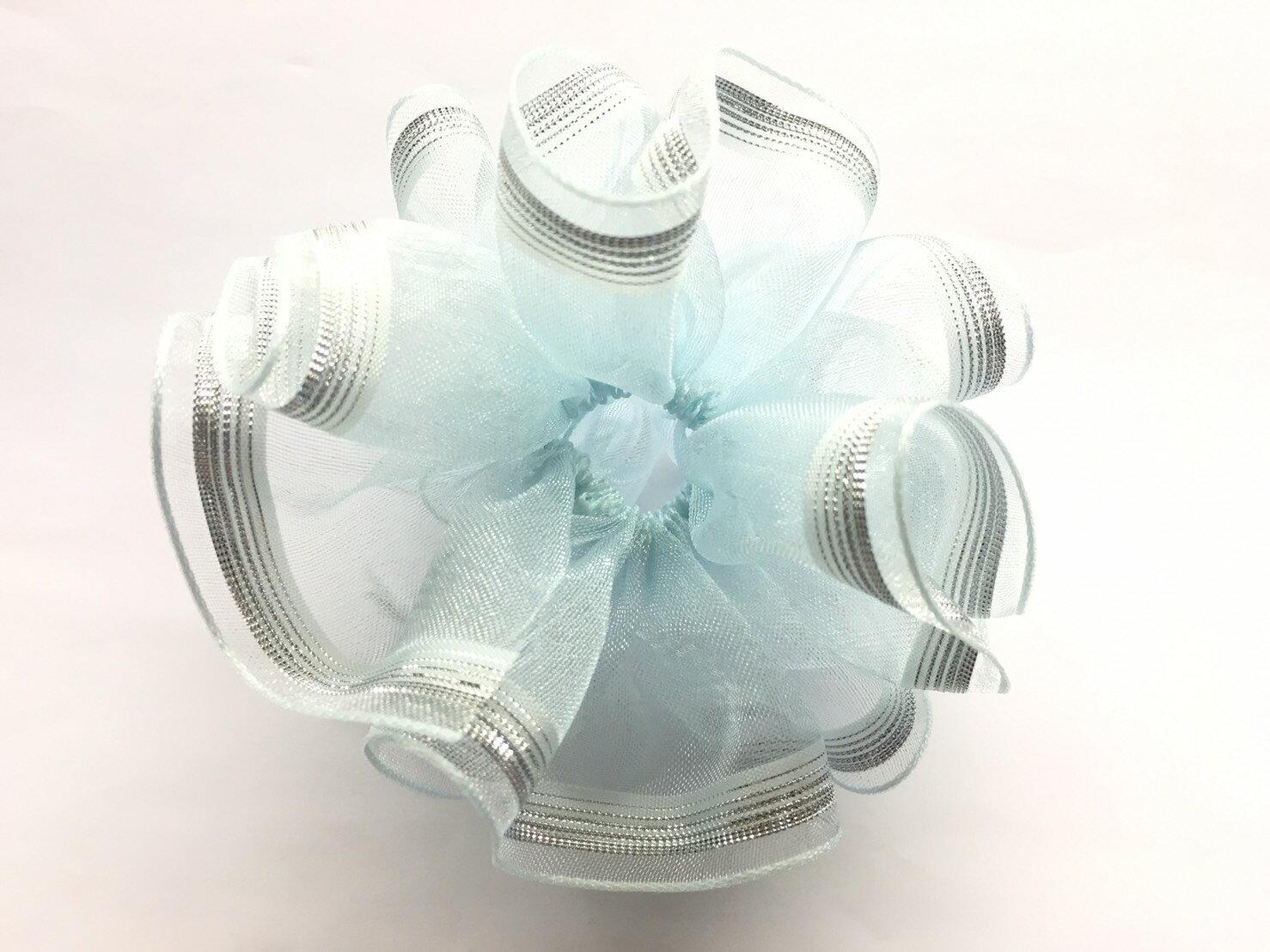 【Crystal Rose緞帶專賣店】單邊漸層拉花帶 38mm 3碼 (4色) 0