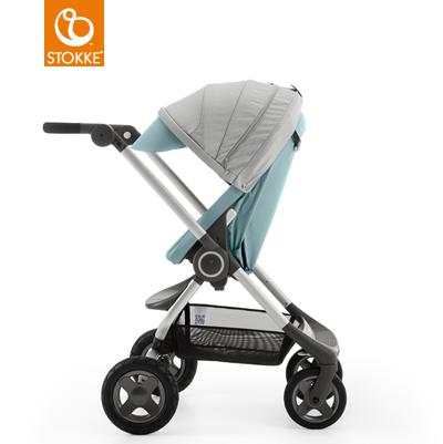 【本月贈市價$1050杯架】【贈Borny安全帶護套(花色隨機)】Stokke Scoot 2代嬰兒手推車(湖水藍) 1