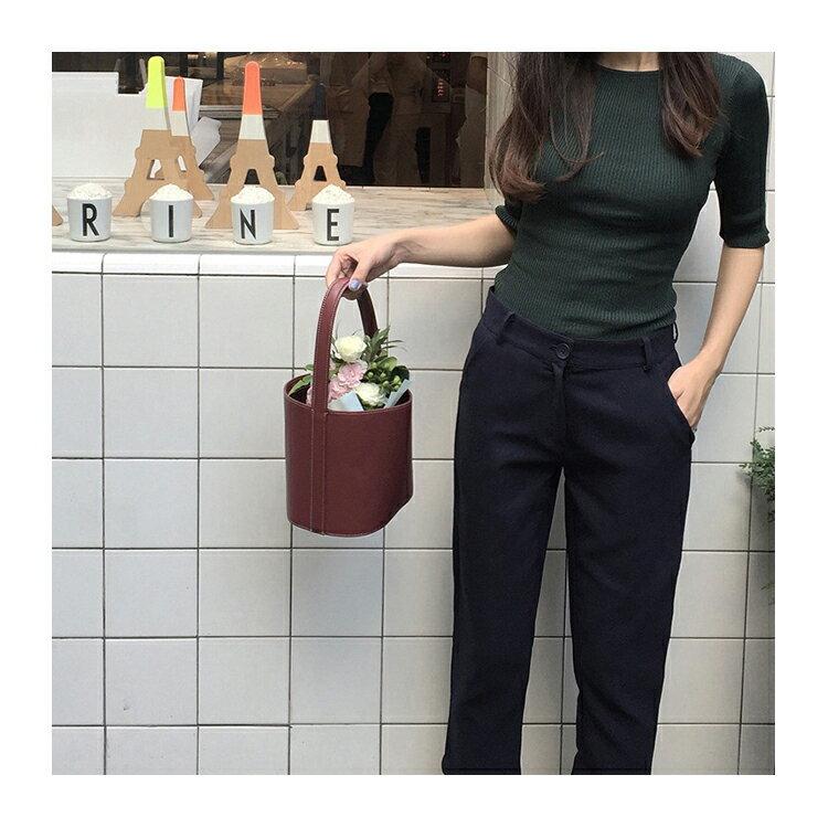短袖針織上衣 復古素色貼身短袖針織衫【KLX25】 BOBI  09/29 2