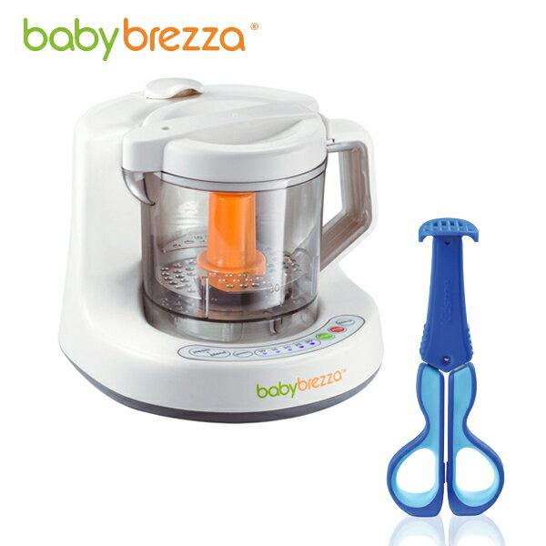 Baby Brezza - 副食品調理機+專用蒸鍋 (附食譜) 加贈Kidsme - 三合一多功能食物剪! - 限時優惠好康折扣