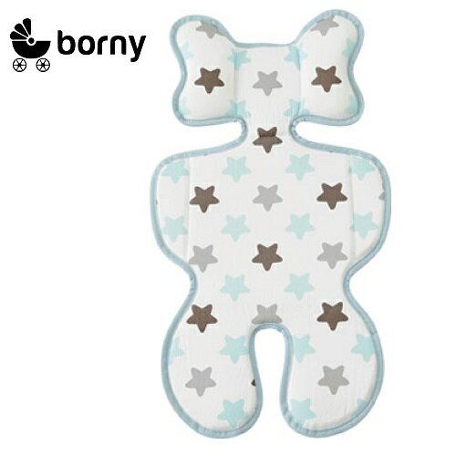 韓國【 Borny 】3D 立體推車涼墊(推車、汽座適用)  (蜜糖藍) 0