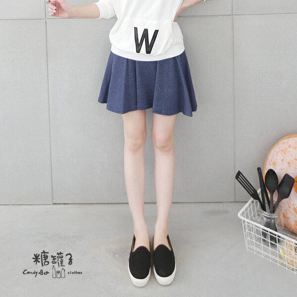 ★原價450五折225★糖罐子韓品‧純色縮腰褲裙→現貨+預購【KK4825】 1