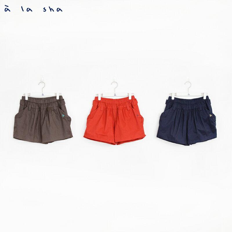 a la sha mucha 口袋打褶造型短褲裙 3