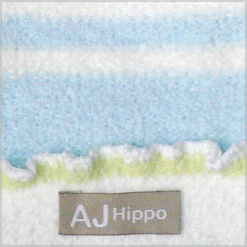 【AJ Hippo 】 小河馬 - 初生型針織嬰兒帽(藍/粉) 2
