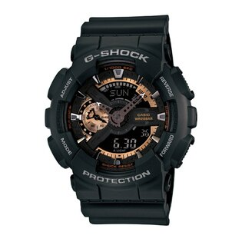 CASIO G-SHOCK GA-110RG-1A超限量酷黑玫瑰金流行腕錶/黑面51mm