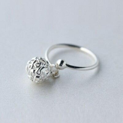 925純銀戒指開口戒~甜美氣質鏤空圓球七夕情人節 女飾品73dt183~ ~~米蘭 ~ ~