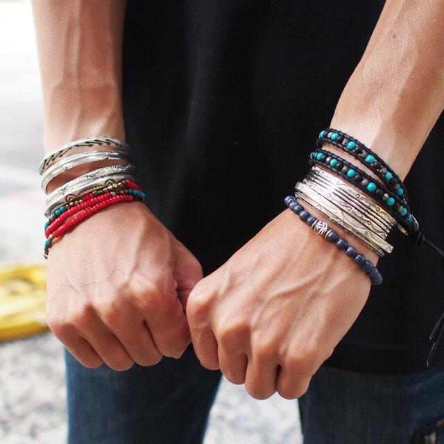 【海外訂購】【Indian Jewelry】印地安圖騰方形手鐲(花紋隨機出貨)(Navajo-026-R) 0
