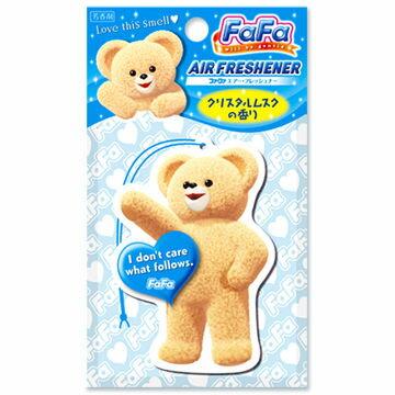 @小櫻桃嬰兒用品@日本FaFa熊--空氣清新香片『水晶麝香』可放車內、衣廚、浴廁、居家