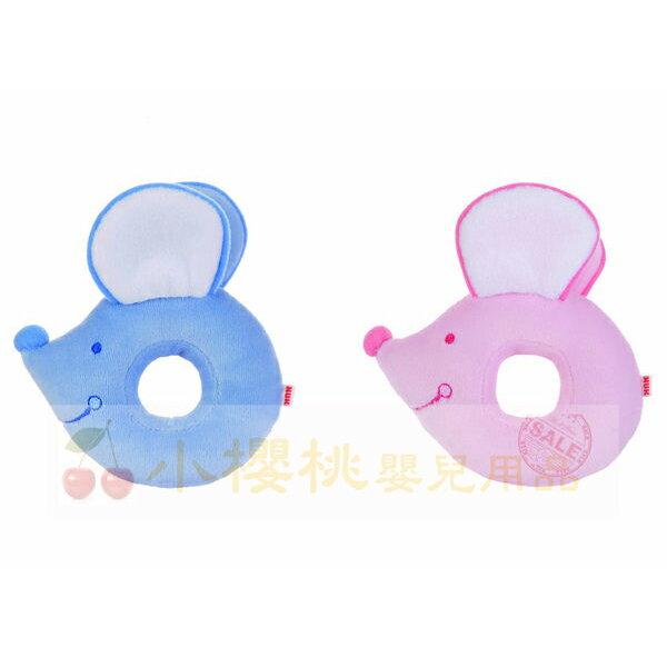 @小櫻桃嬰兒用品@NUK--鼠搖鈴 絨毛玩具