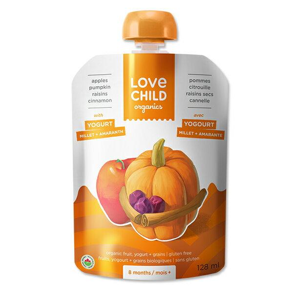 【Love Child】加拿大寶貝泥 嬰幼兒有機鮮萃生機蔬果泥 優格寶系列-原味優格+蘋果+南瓜