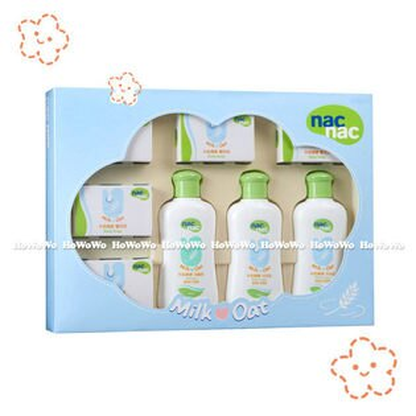 寶貝可愛 Nac Nac牛奶燕麥潔膚禮盒 附提袋 132271