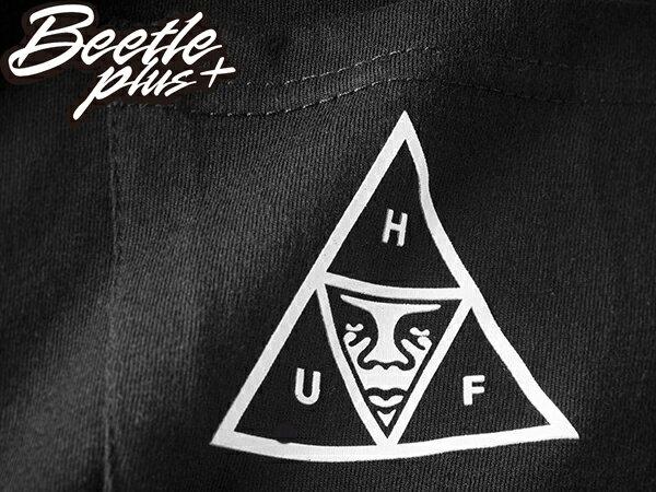 BEETLE HUF X OBEY TRIPLE TRIANGLE BLACK 聯名 口袋 人臉 黑 短T TEE 2