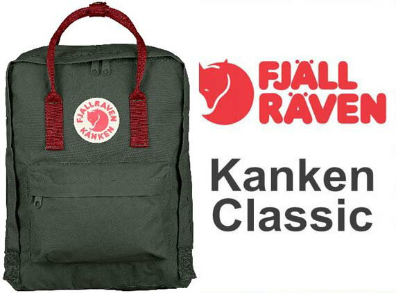 瑞典 FJALLRAVEN KANKEN   Classic 660-326 Forest Green & Ox Red 森林綠/公牛紅  小狐狸包