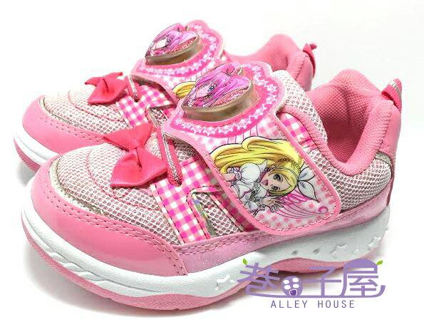 【巷子屋】光之美少女 美樂天使 女童愛心蝶結造型電燈運動休閒鞋 [37333] 粉 MIT台灣製造 超值價$198
