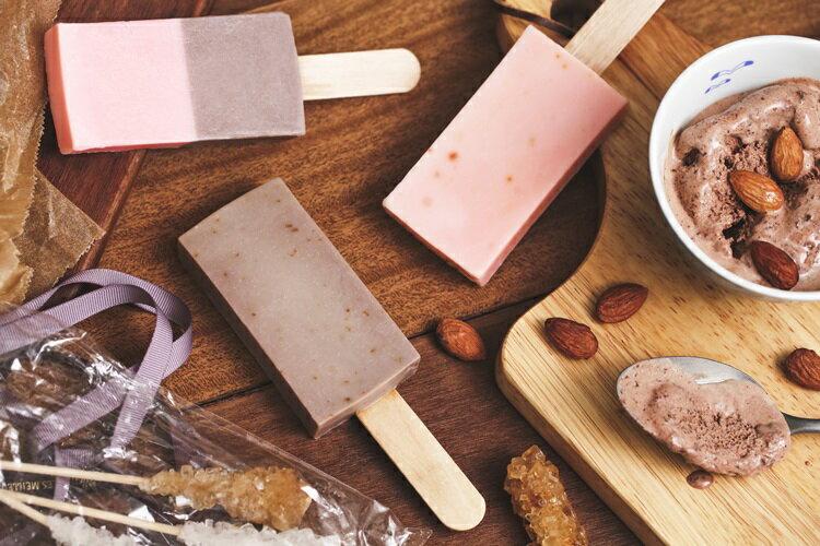 《雪文洋行》沁透快樂冰棒皂-蘭布拉琥珀(琥珀白薑花)72%馬賽皂-70g 3