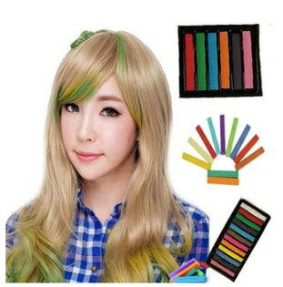 50%OFF【Y08052DN】日本原宿一次性染髮棒 染髮粉筆染髮蠟筆 染髮筆挑染頭髮6色入
